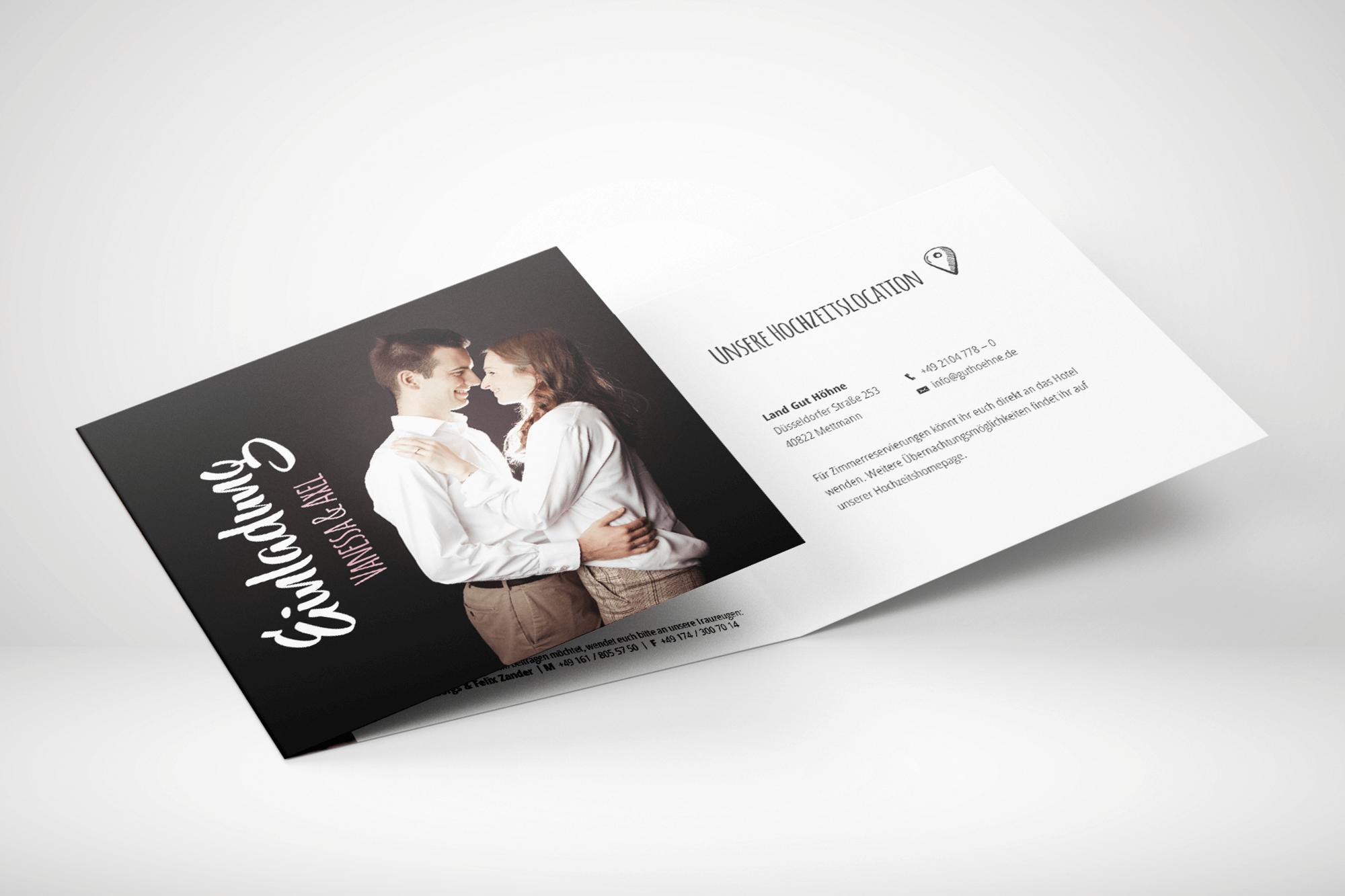 Bild einer 6-Seiten Hochzeitseinladungskarte